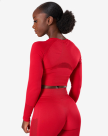 ICANIWILL DYNAMIC SEAMLESS LONGSLEEVE CROPTOP DEEP RED