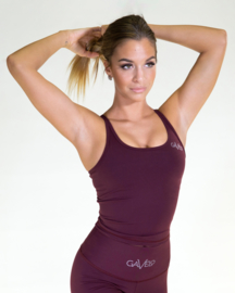 GAVELO POP BURGUNDY RED TANKTOP (build-in bra)