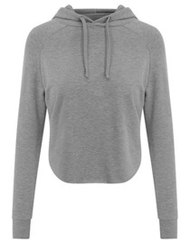 SOFT CROSSED BACK HOODIE GREY MELANGE