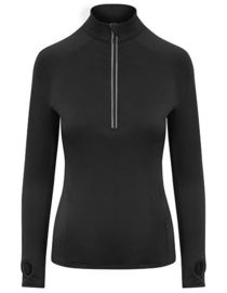 DRI-FIT LONGSLEEVE 3/4 ZIP BLACK