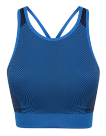 SEAMLESS CROSS CROPTOP BLUE/NAVY