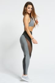 GYM GLAMOUR | SEXY BLACK/GREY FITNESS LEGGING