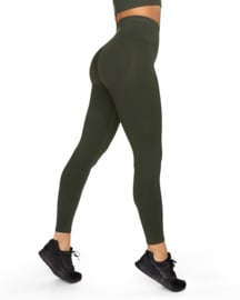 GAVELO BOOSTER FOREST GREEN PUSH-UP LEGGING