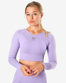 ICANIWILL DYNAMIC SEAMLESS LONGSLEEVE CROPTOP LILA