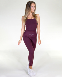 GAVELO POP BURGUNDY RED FITNESSLEGGING