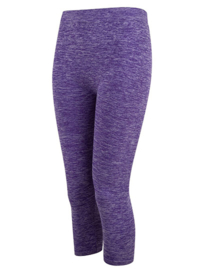 SEAMLESS CAPRI LEGGING PURPLE MELANGE