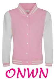 ONWN BASEBALL SWEAT VEST BABY PINK
