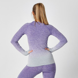 SEAMLESS LONGSLEEVE FADE OUT PURPLE MELANGE