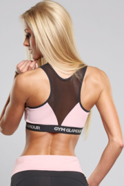 GYM GLAMOUR | ZIPPED PINK SPORTTOP