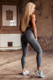 CRITICAL PUMP FIGURE FITNESSLEGGING STEEL GREY