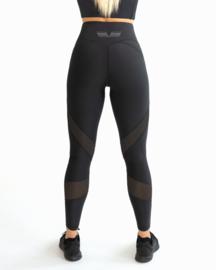 GAVELO MESH BLACK SWIRL LEGGING (HALF COMPRESSION)
