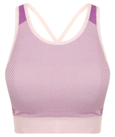 SEAMLESS CROSS CROPTOP PURPLE/PINK