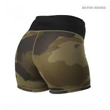 BETTER BODIES CHELSEA HOTPANTS DARK GREEN CAMO