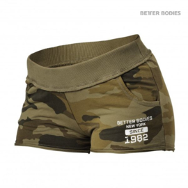 BETTER BODIES ROUGH SWEATSHORTS DARK GREEN CAMO