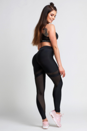 GYM GLAMOUR | BLACK MESH FITNESSLEGGING