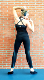 DIAMONDS KORLOFF NOIR/BLUE LEGGING (COMPRESSION)
