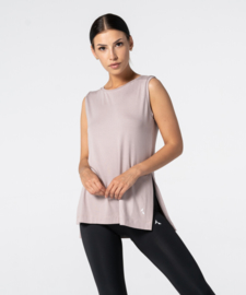 CARPATREE SLIT SHORTSLEEVE T-SHIRT DUSTY PINK