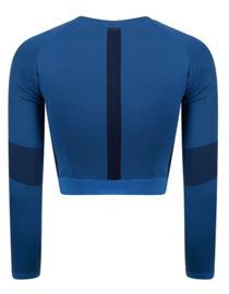 SEAMLESS CROPPED LONGSLEEVE BLUE/NAVY