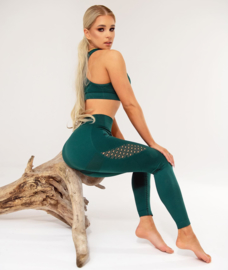 CARPATREE PHASE SEAMLESS LEGGING BOTTLE GREEN