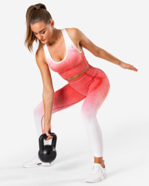 ICANIWILL OMBRE RED SEAMLESS SPORTTOP
