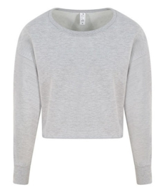 CROPPED SWEATER LIGHT GREY