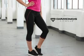DIAMONDS KORLOFF NOIR/PINK CAPRI LEGGING