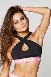 GYM GLAMOUR | BLACK BASIC SPORTTOP