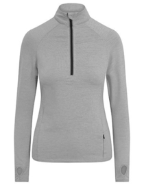 DRI-FIT LONGSLEEVE 3/4 ZIP SILVER GREY