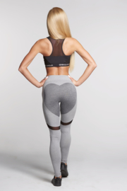 GYM GLAMOUR | MIXED GREY HEART FITNESSLEGGING