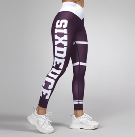 SIX DEUCE JERSEY PURPLE FITNESSLEGGING