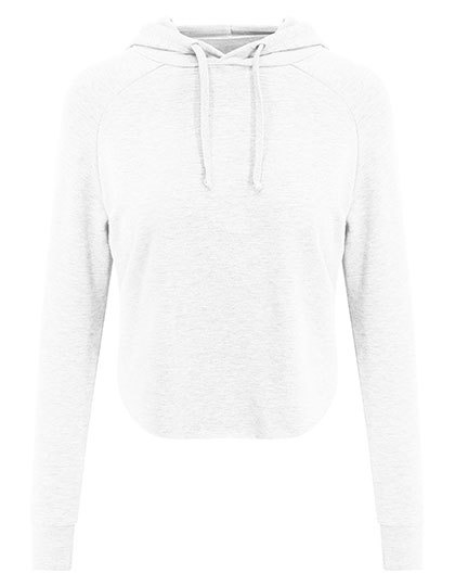 SOFT CROSSED BACK HOODIE WHITE