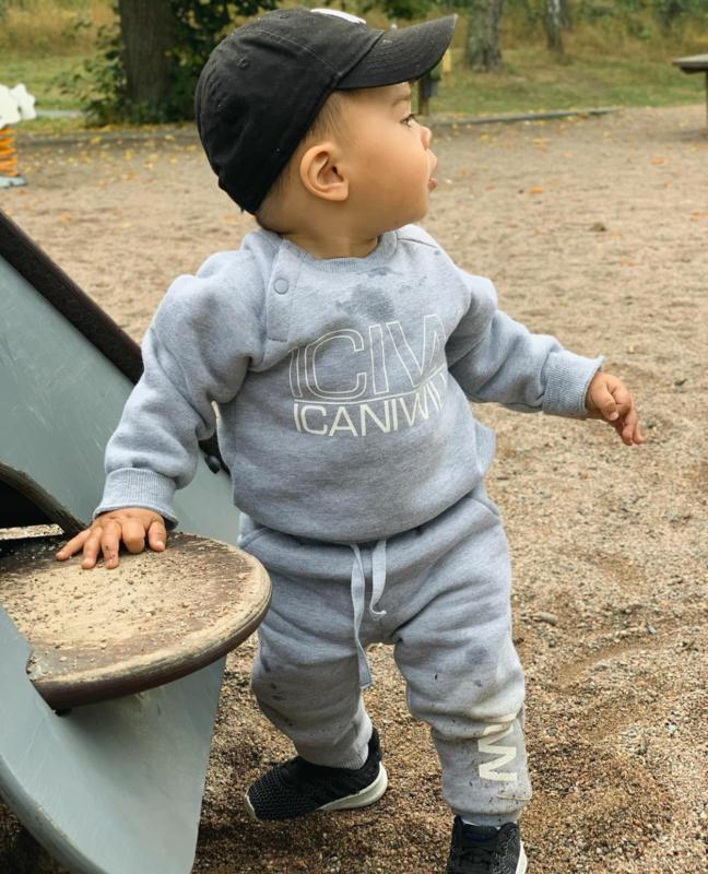 ICANIWILL BABY / PEUTER / KLEUTER JOGGINGBROEKJE GREY MELANGE
