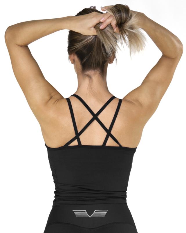 GAVELO POP BLACK TANKTOP (build-in bra)