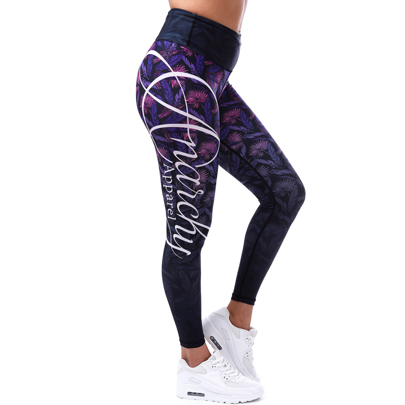 ANARCHY APPAREL CLOVERFIELD FITNESSLEGGING PURPLE/BLACK