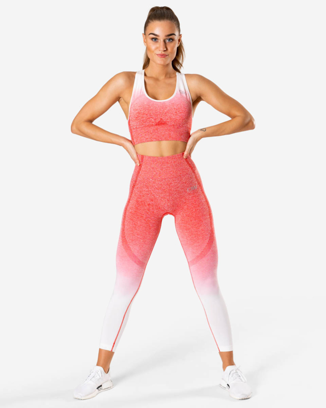 ICANIWILL OMBRE RED SEAMLESS FITNESSLEGGING