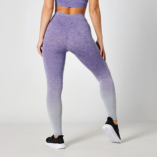 SEAMLESS FITNESSLEGGING FADE OUT PURPLE MELANGE