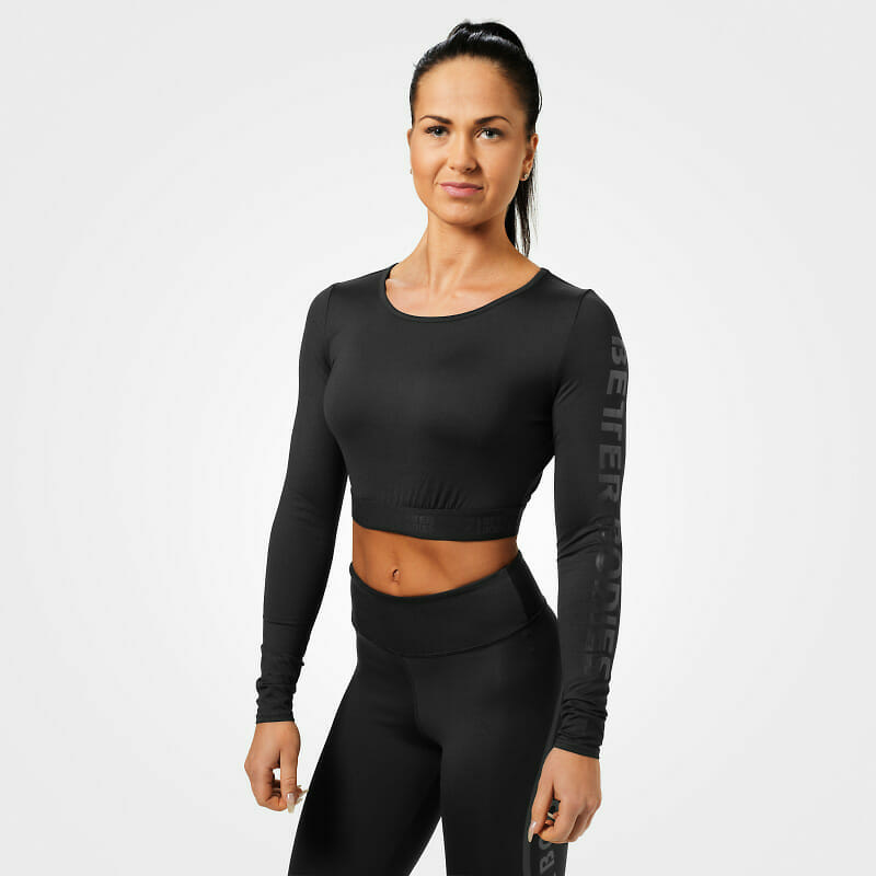 BETTER BODIES CHELSEA CROPPED TOP BLACK