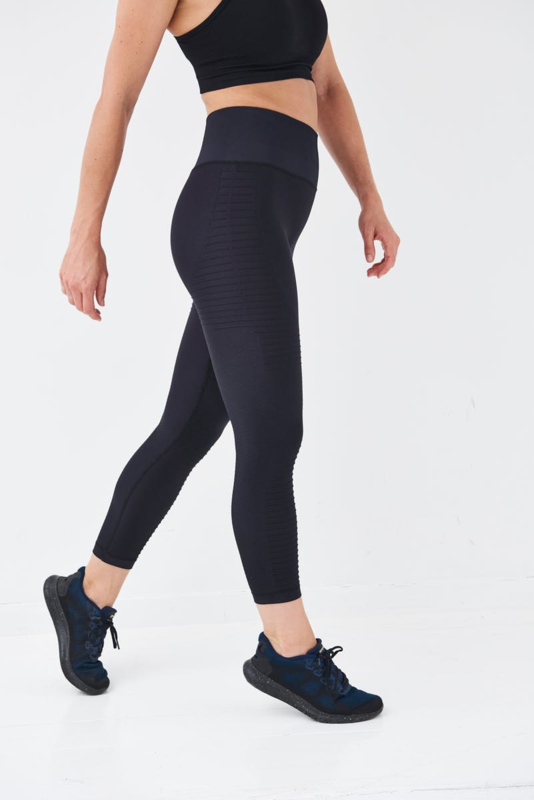 SEAMLESS RIBBED FITNESSLEGGING BLACK