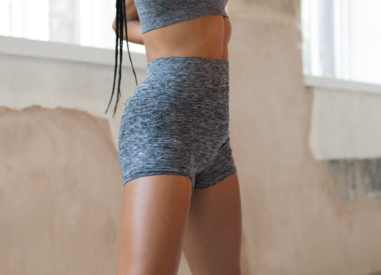 SEAMLESS SHORTS GREY MELANGE