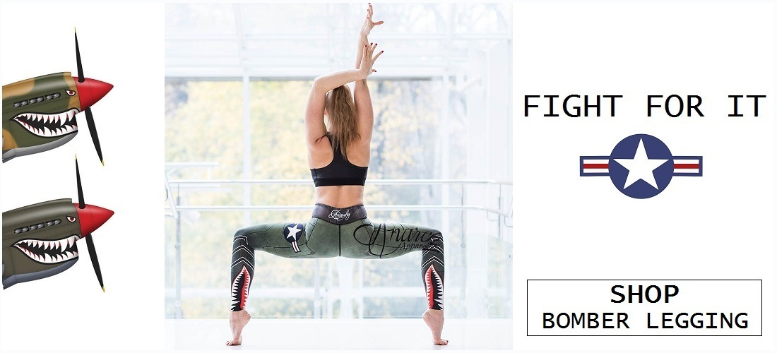 ANARCHY APPAREL BOMBER FITNESSLEGGING - ONELLA SPORTSWEAR - DAMES SPORTLEGGING