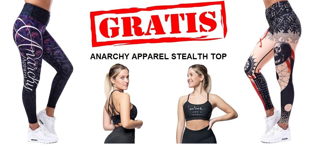 GRATIS ANARCHY APPAREL STEALTH SPORTTOP BIJ AANKOOP VAN 2 ANARCHY LEGGINGS - ONELLA SPORTSWEAR