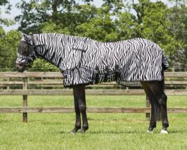 QHP vliegendeken nek + hoed zebra