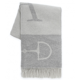 Adamsbro Cashmere WoolThrow Off-White/light grey