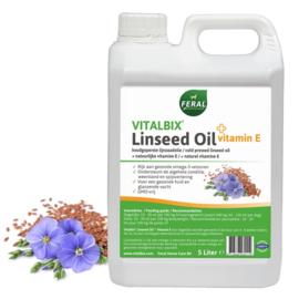 Vitalbix lijnzaad olie met vitamine E 5liter