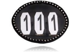 SD Crystal numbers holder in black. O-108