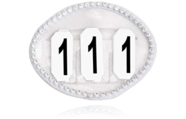SD Crystal numbers holder in white. O-108