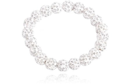 SD Small Diamond scrunchie in Crystal. J-172