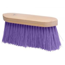 Borstel lange haren paars
