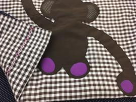 Bruin donkerblauw met aap
