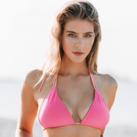 Boho Bikini Reversible Triangle Cerise-Peach